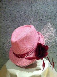 Sombrero tonos rojos