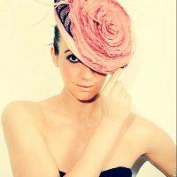 Tocado flor rosa